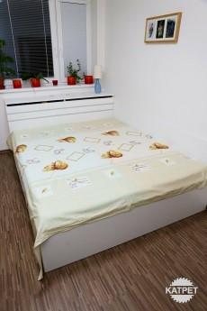 Manželská postel bílá